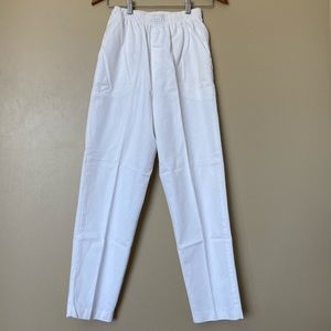 {cabin creek} White Elastic Waist Cotton Pants